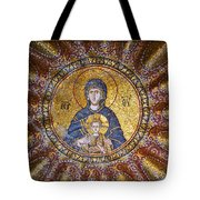 Blessed Virgin Mary And The Child Jesus Tote Bag
