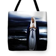 Mary By The Sea Tote Bag