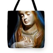 Mary In Manger Tote Bag