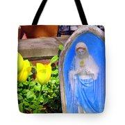 Mary In Springtime Tote Bag