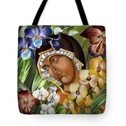 Mary Of The Orchids  Tote Bag