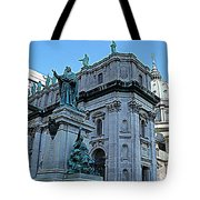 Mary Queen Of The World Cathedral - Side View In Hdr Tote Bag