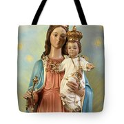 Mary Statue At Taybeh Village Tote Bag