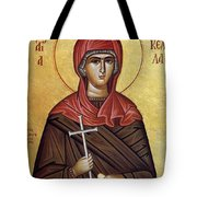 Mary With The Cross Tote Bag
