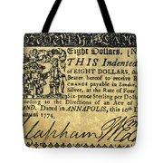 Maryland Bank Note, 1774 Tote Bag