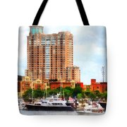 Maryland - Boats At Inner Harbor Baltimore Md Tote Bag