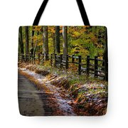 Maryland Country Roads - An Early Kiss Of Winter Tote Bag