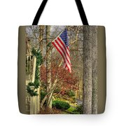 Maryland Country Roads - Flying The Colors 1a Tote Bag by Michael Mazaika