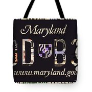 Maryland License Plate Tote Bag