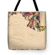 Maryland Map Vintage Watercolor Tote Bag
