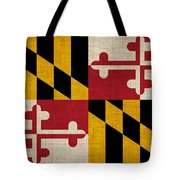 Maryland State Flag Tote Bag by Pixel Chimp