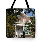 Maryland State House And Statue Tote Bag