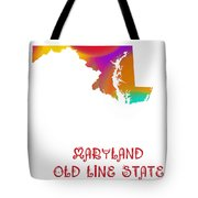 Maryland State Map Collection 2 Tote Bag
