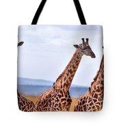 Masai Giraffe Tote Bag