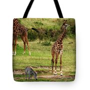 Masai Mara Wildlife Scene Tote Bag