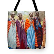 Masai Women Kenya Tote Bag