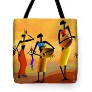 Masai Women Quest For Water Tote Bag