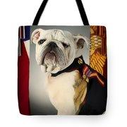 Mascot Of The United States Marine Corps Tote Bag