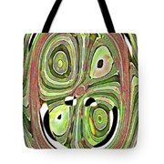 Mask 10 Curled Up Tote Bag
