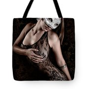 Mask And Lace Tote Bag