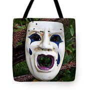 Mask And Ladybugs Tote Bag by Garry Gay