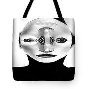 Mask Black And White Tote Bag