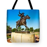 Masked Rider Statue Tote Bag