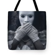 Masked Woman Tote Bag