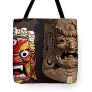 Masks In Kathmandu Nepal Tote Bag
