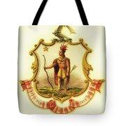 Massachusetts Coat Of Arms - 1876 Tote Bag