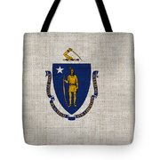 Massachusetts State Flag Tote Bag by Pixel Chimp