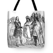 Massasoit Forges Treaty With Pilgrims Tote Bag