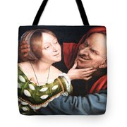 Massays' Ill Matched Lovers Or Badly Matched Lovers Tote Bag