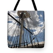 Mast And Clouds Tote Bag