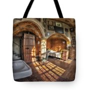 Master Bedroom At Fonthill Castle Tote Bag by Susan Candelario