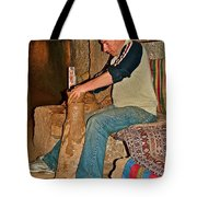 Master Potter At Work In Avanos-turkey Tote Bag by Ruth Hager
