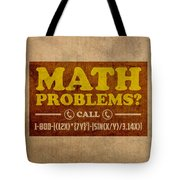 Math Problems Hotline Retro Humor Art Poster Tote Bag by Design Turnpike