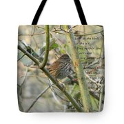 Mathew 6 Vs 26 Thrush Tote Bag