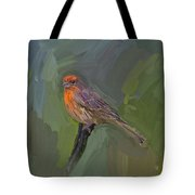 Mating Colors Of The Male Finch Tote Bag
