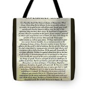 Matted Ocean Sunset Desiderata Poster Tote Bag