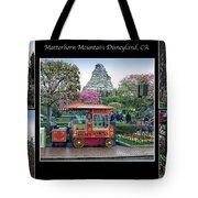 Matterhorn Mountain Disneyland Collage Tote Bag
