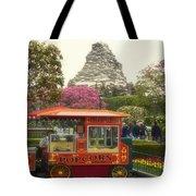 Matterhorn Mountain With Hot Popcorn At Disneyland 01 Tote Bag