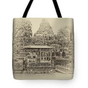 Matterhorn Mountain With Hot Popcorn At Disneyland Heirloom Tote Bag
