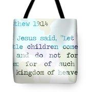 Matthew 19 Tote Bag