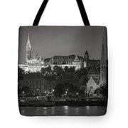 Matthias Church Night Bw Tote Bag