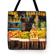 Maui Fruits And Vegetables Tote Bag