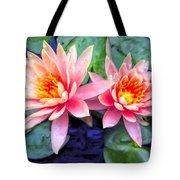 Maui Lotus Blossoms Tote Bag