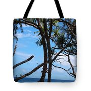 Maui Tree Silhouette Tote Bag