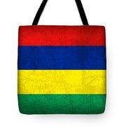 Mauritius Flag Vintage Distressed Finish Tote Bag