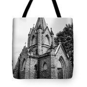 Mausoleum New England Black And White Tote Bag